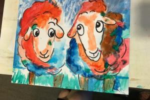 Schilderij gemaakt door mevrouw van Haren
